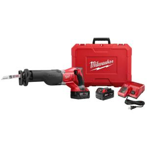 M18 18-Volt Lithium-Ion Cordless SAWZALL Reciprocating Saw W/(2) 3.0Ah Batteries, Charger, Hard Case