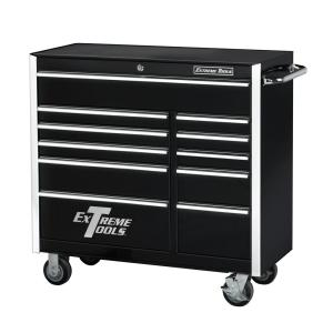 Click here to buy Extreme Tools 41 inch 11-Drawer Standard Roller Cabinet Tool Chest in Black by Extreme Tools.