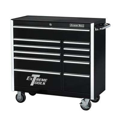 41 in. 11-Drawer Standard Roller Cabinet Tool Chest in Black