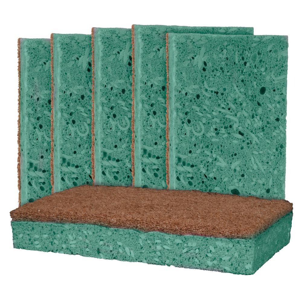 Outdoor Soap-Infused X-Large Heavy-Duty Odor and Bacteria Resistant Scrub Sponge