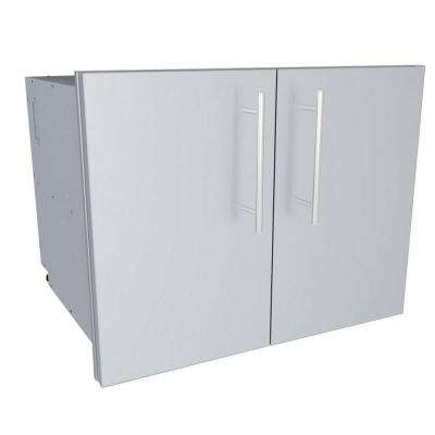 Designer Series Raised Style - 30 in. Double Door Dry Storage Pantry