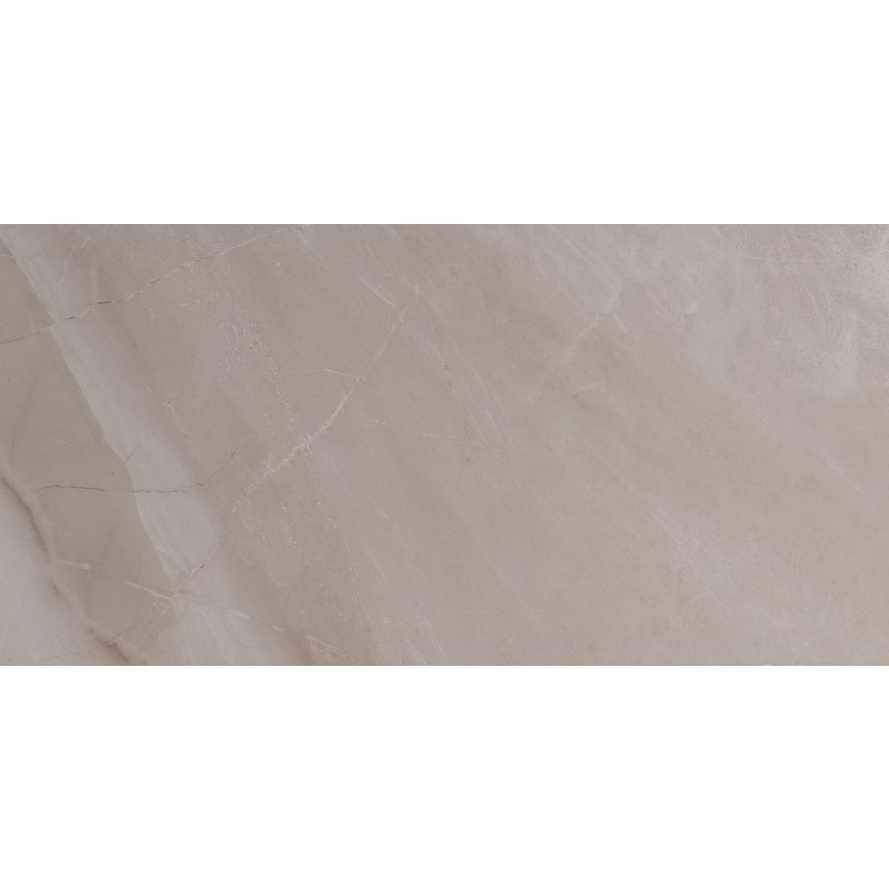 Adella Gris Satin 12 in. x 24 in. Glazed Ceramic Wall