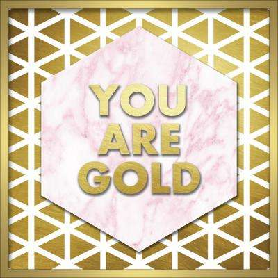 "20 in. x 20 in. ""You Are Gold"" Shadowbox Wall Art"