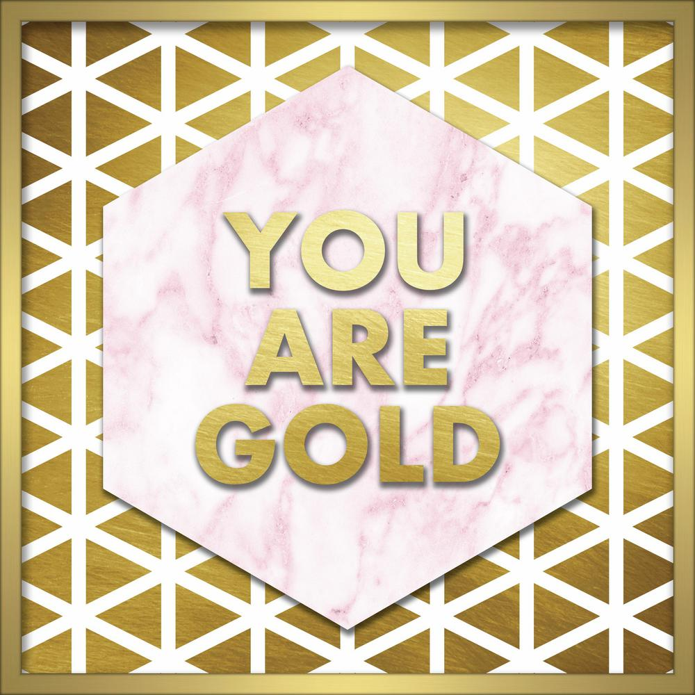 """Linden Ave 20 in. x 20 in. """"You Are Gold"""" Shadowbox Wall Art ..."""
