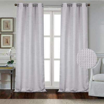 """Day to Night Times Square Blackout Noise Reducing Grommet Curtain Panel Pair, 38""""x96"""" Each(76""""x96"""" Total), Silver Grey"""
