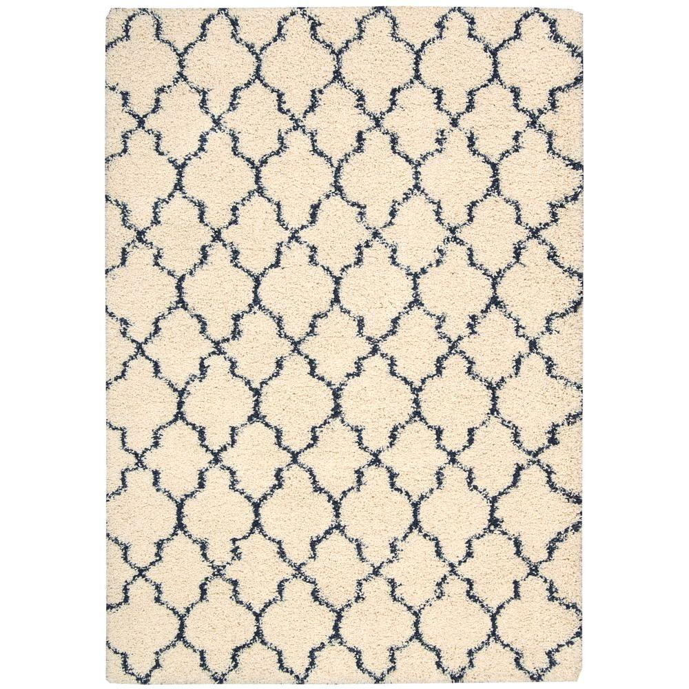 Nourison Amore Ivory/Blue 7 ft. 10 in. x 10 ft. 10 in. Area Rug