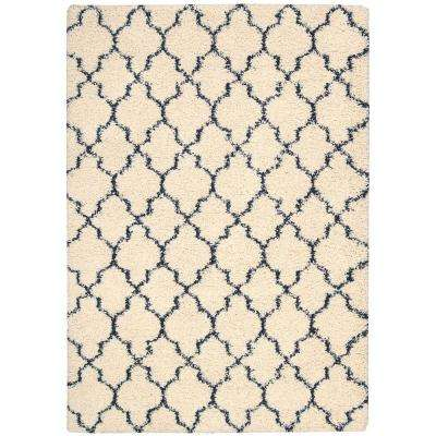 Amore Ivory/Blue 7 ft. 10 in. x 10 ft. 10 in. Area Rug