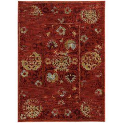 Walter Red 7 ft. x 10 ft. Area Rug