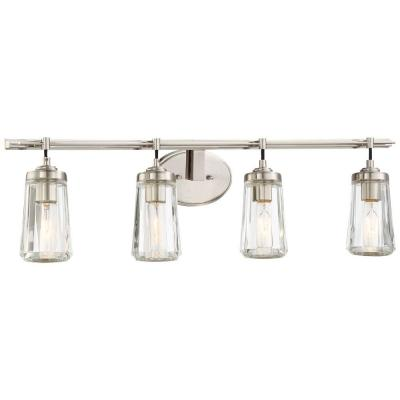 Poleis 4-Light Brushed Nickel Bath Light