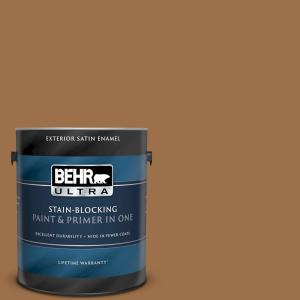 Behr Ultra 1 Gal Ppu4 17 Olympic Bronze Satin Enamel Exterior Paint And Primer In One 985301 The Home Depot
