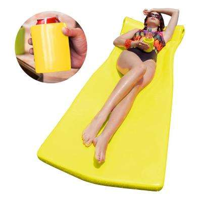 XX-Large Foam Mattress with Bonus Koozie Yellow Pool Float