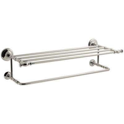 Artifacts Hotelier Towel Rack in Vibrant Polished Nickel