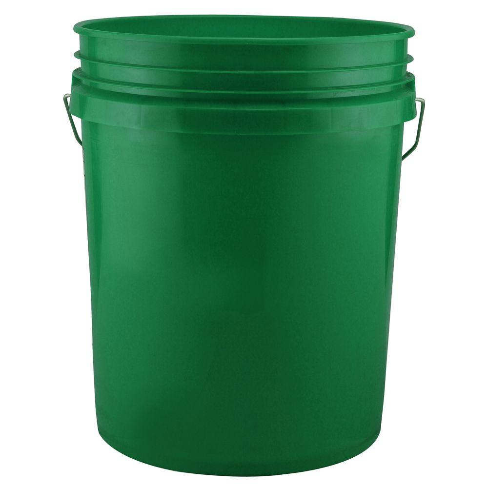 leaktite 5 gal green bucket 120 pack 210668 the home depot