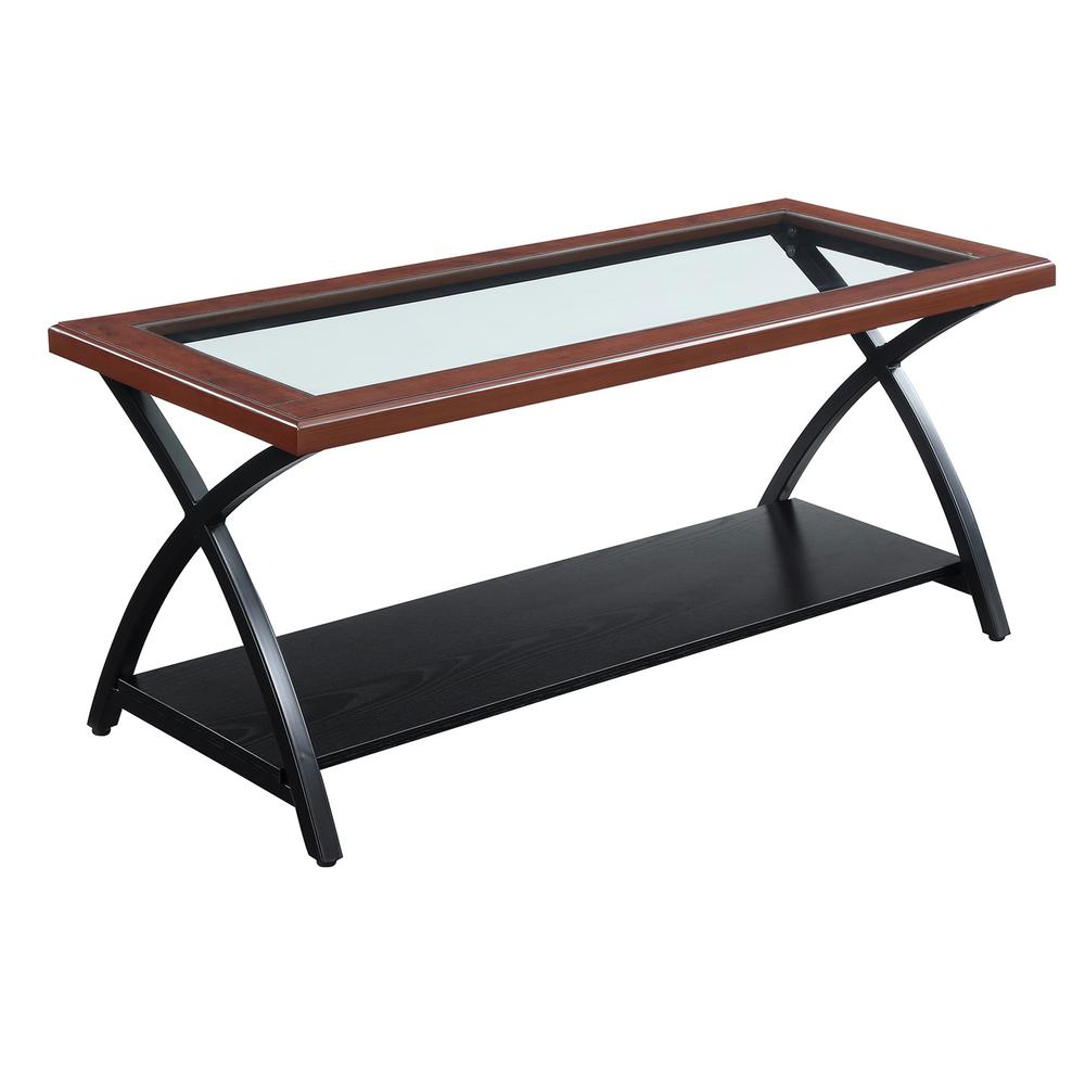 Lakeshore Cherry and Black Coffee Table