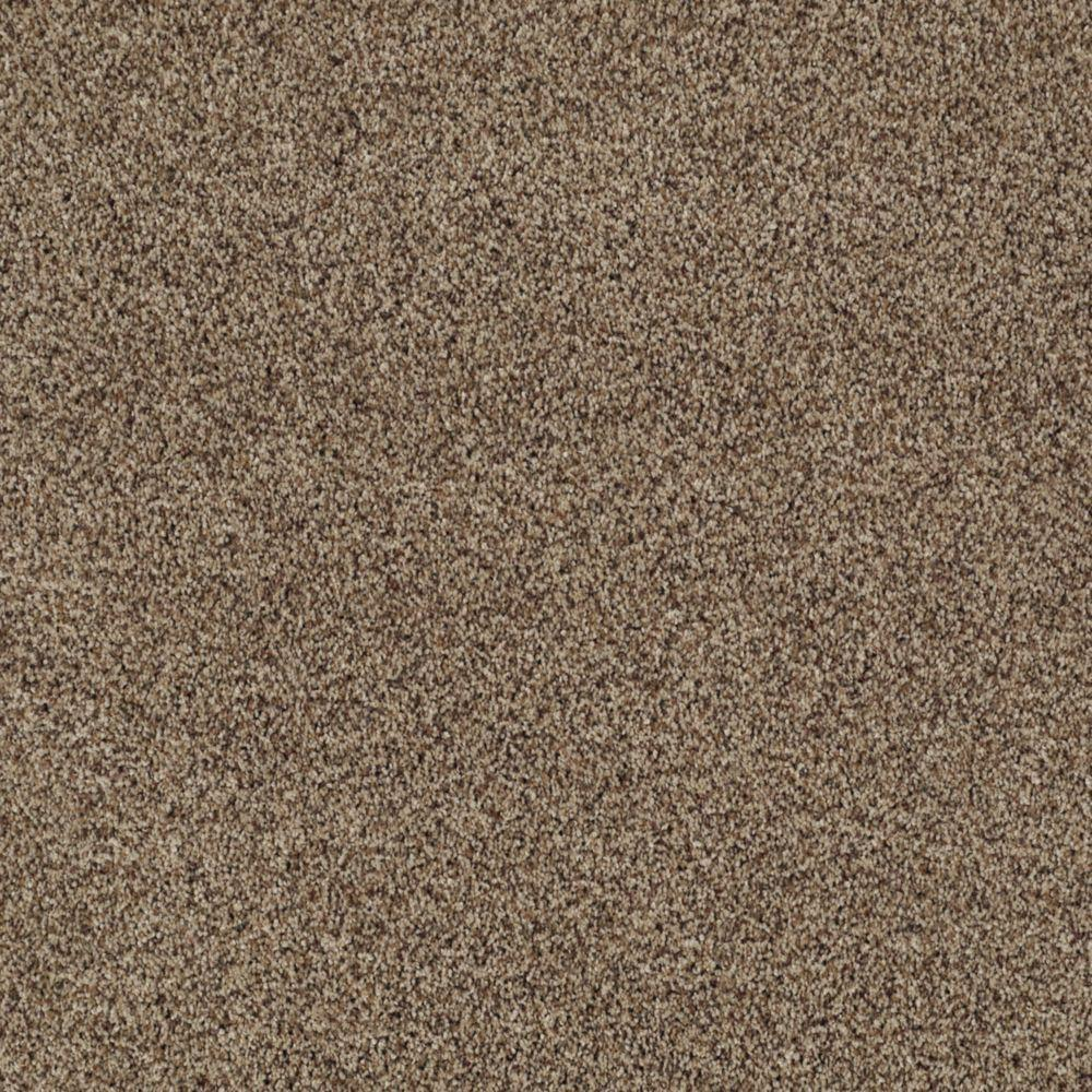 SoftSpring Heavenly II - Color Foggy Road Texture 12 ft. Carpet