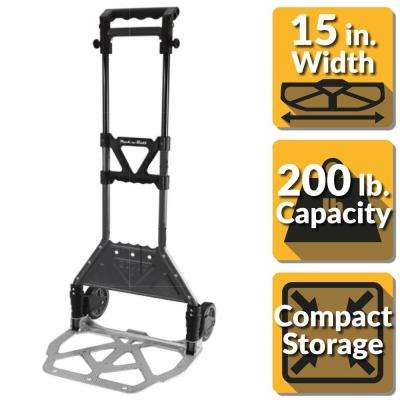Pack-N-Roll 200 lb. Steel Folding Hand Truck with Aluminum Toe Plate