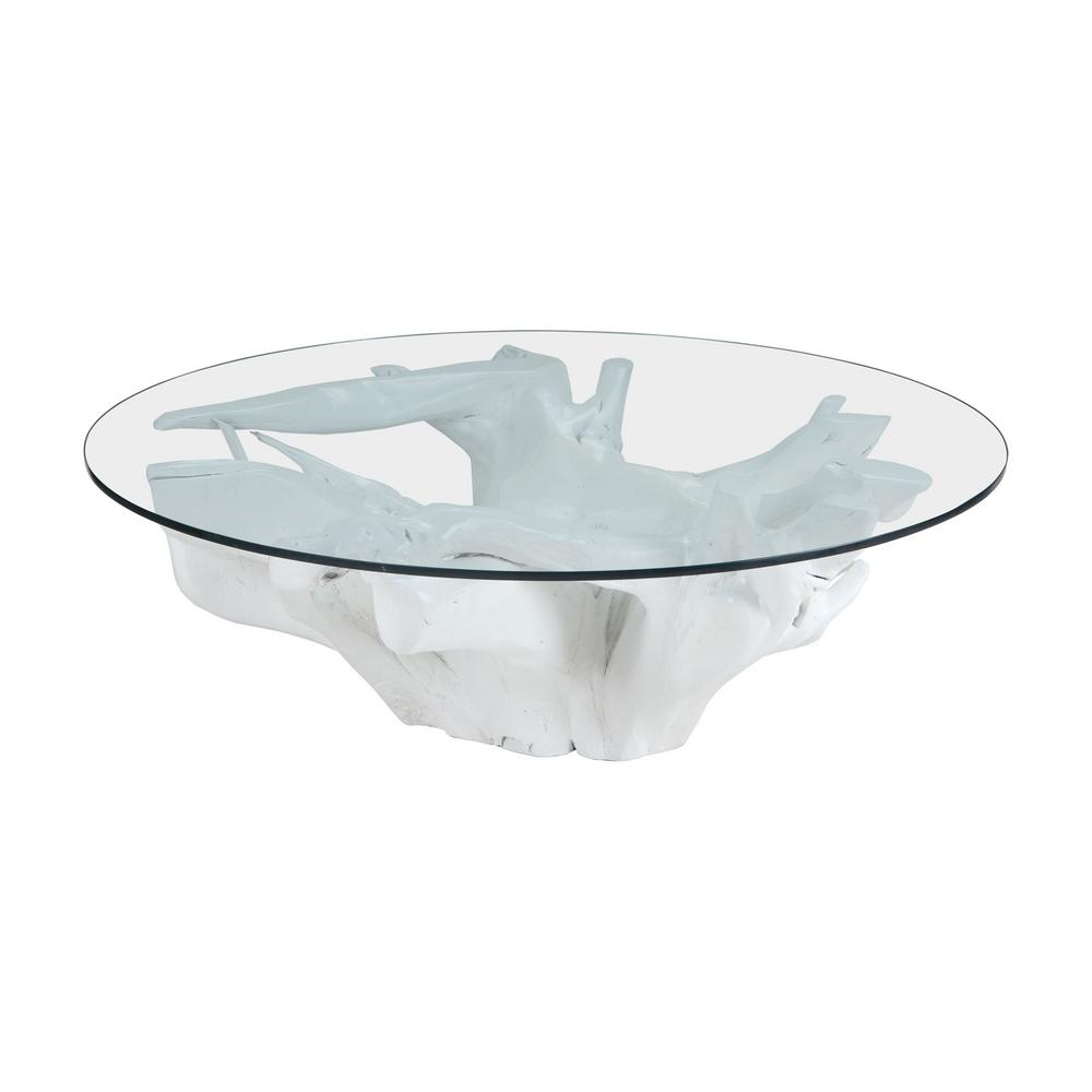 Titan Lighting Root White Coffee Table