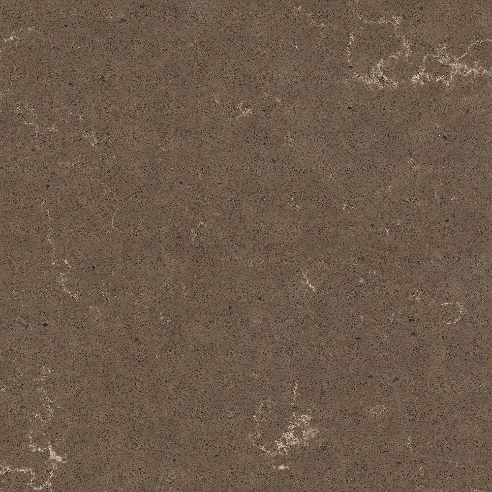 2 in. x 4 in. Quartz Countertop Sample in Iron Bark