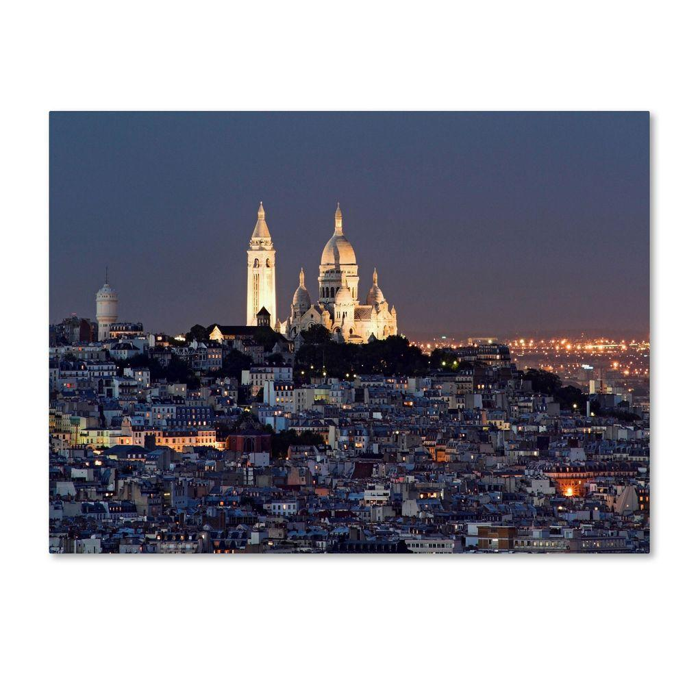 14 in. x 19 in. Butte Montmartre Canvas Art