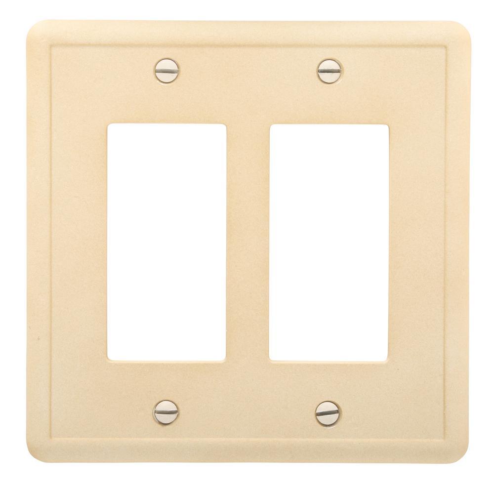 2-GFCI Wall Plate, Travertine