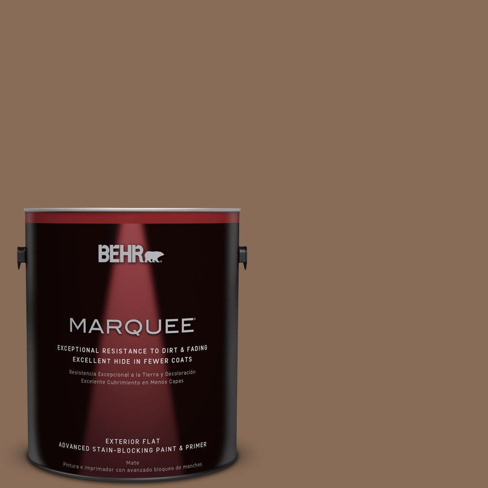 1-gal. #BNC-34 Spiced Latte Flat Exterior Paint
