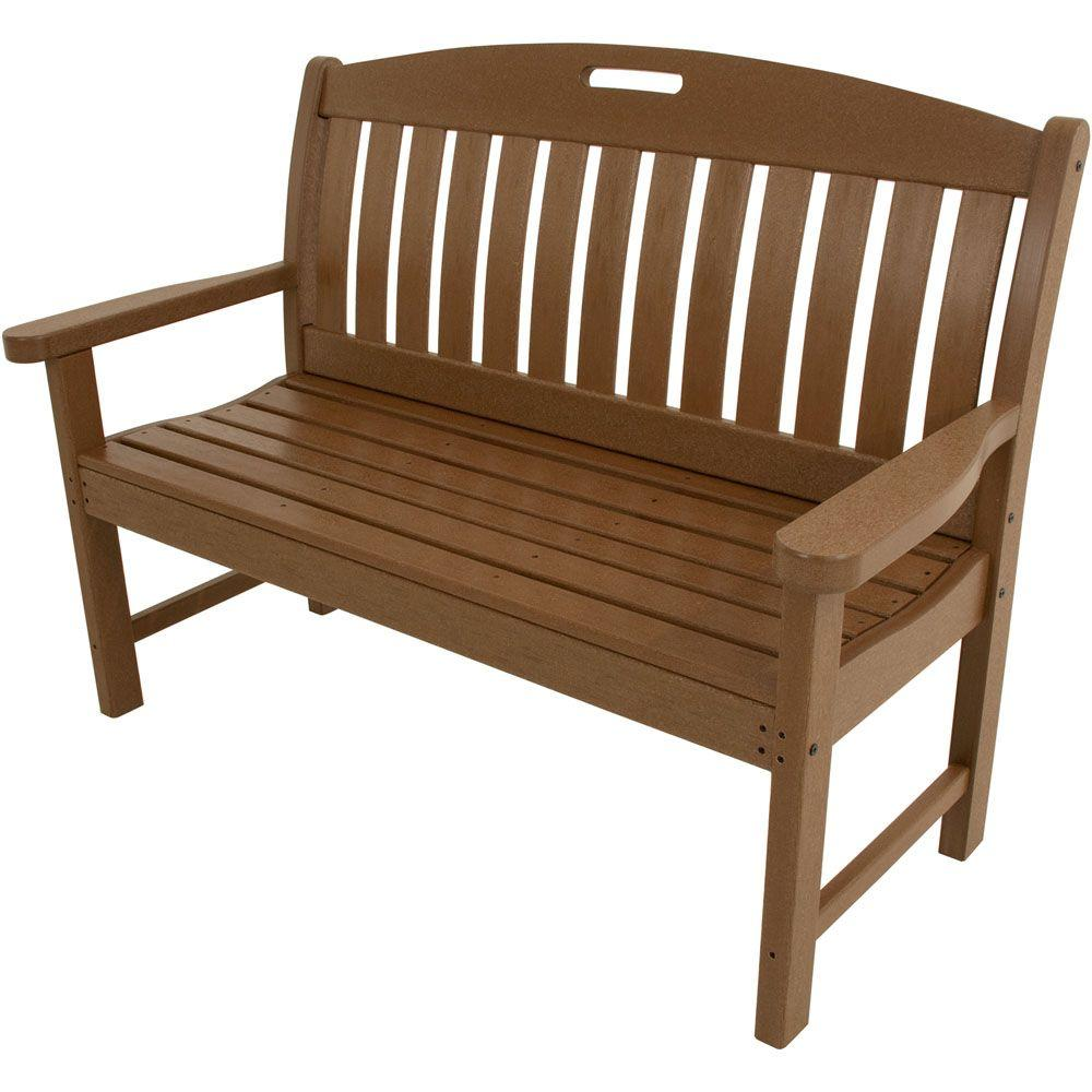 Avalon 48 in. Teak All-Weather Patio Porch Bench
