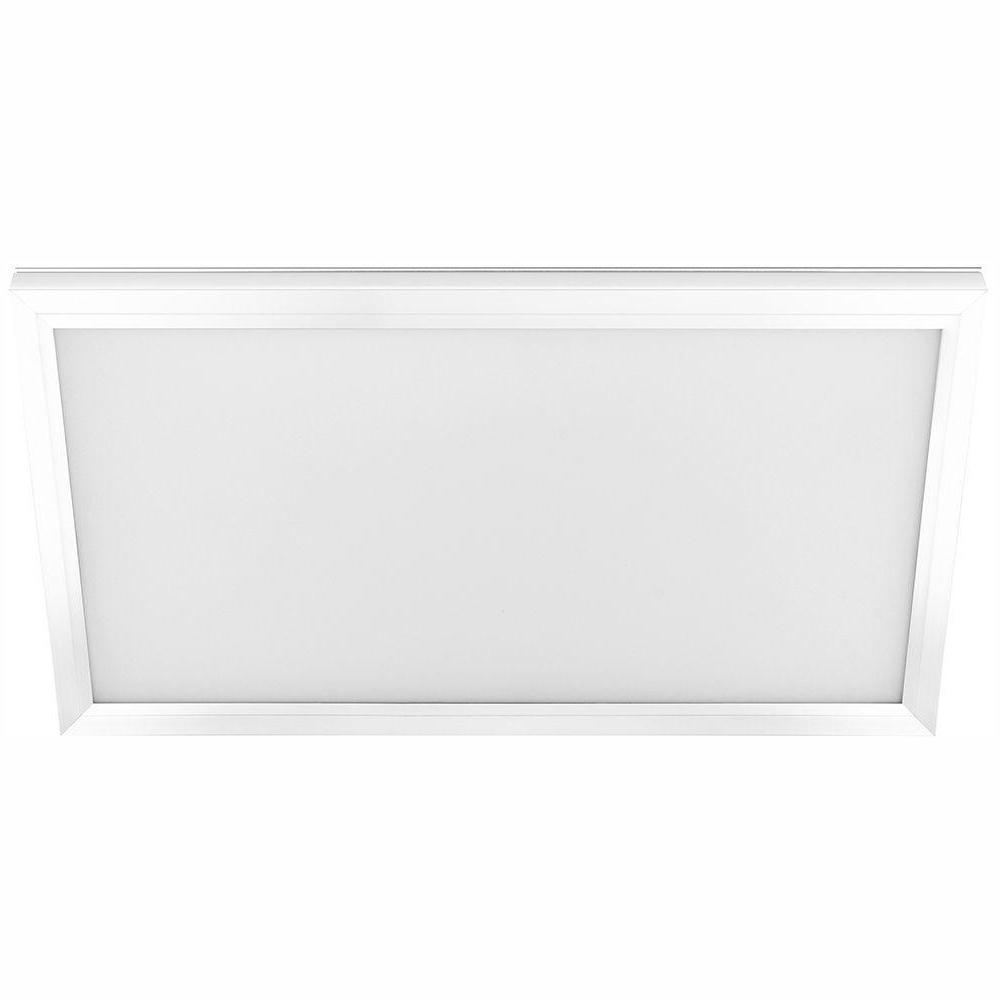 1 ft. x 4 ft. 50-Watt4000 Lumens Dimmable White Integrated LED Edge-Lit Flat Panel Flush Mount Light Color Changing CCT