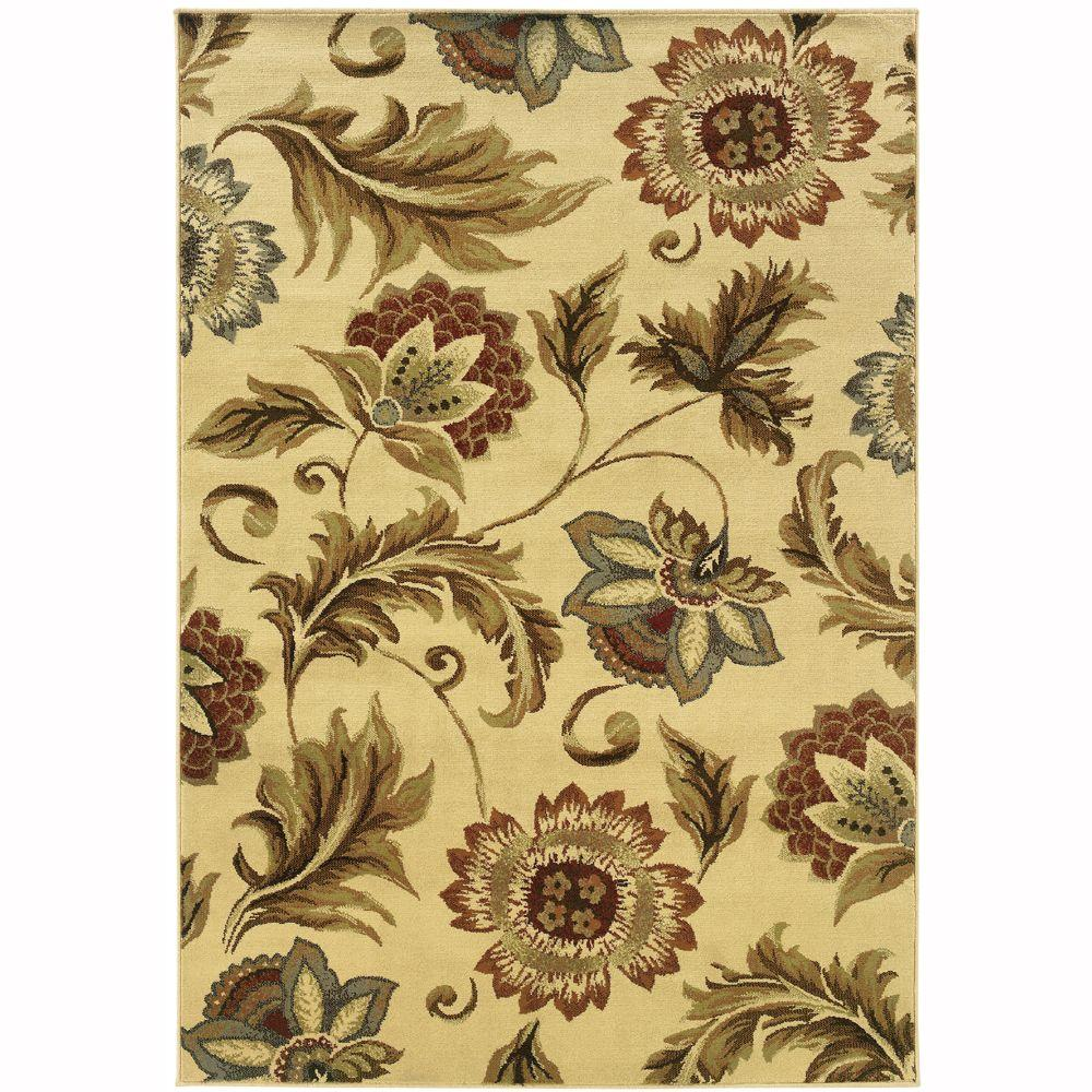 Oriental Weavers Grace Mariam Cream 8 ft. x 10 ft. Area Rug