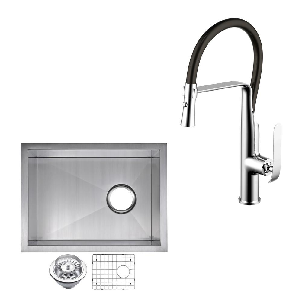 Water Creation All In One Undermount Stainless Steel 15 In Single