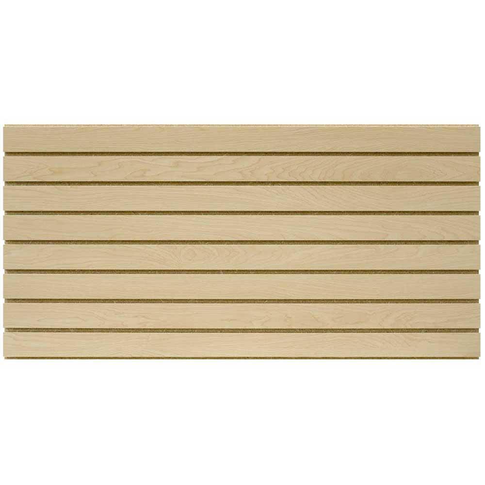 2 ft. x 4 ft. Maple Slatwall Easy Panel (2-Piece per Box)