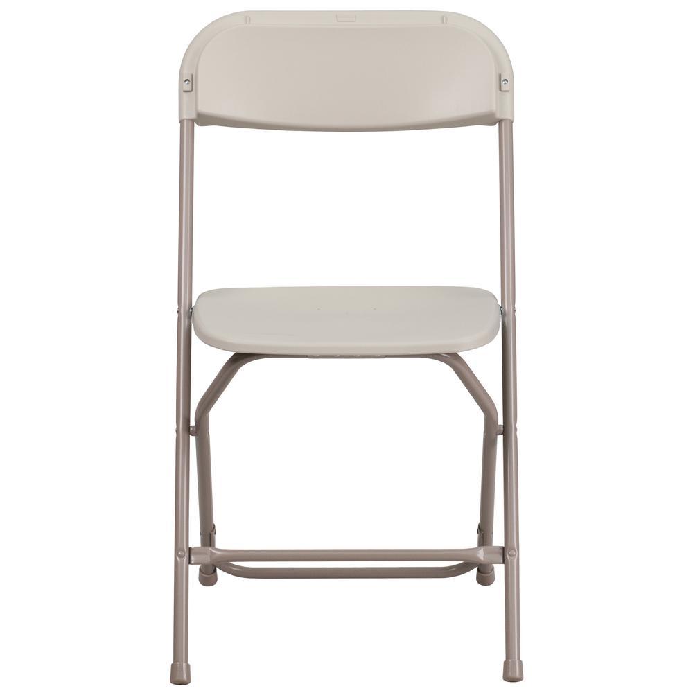 Beige Metal Folding Chair (Set of 10)