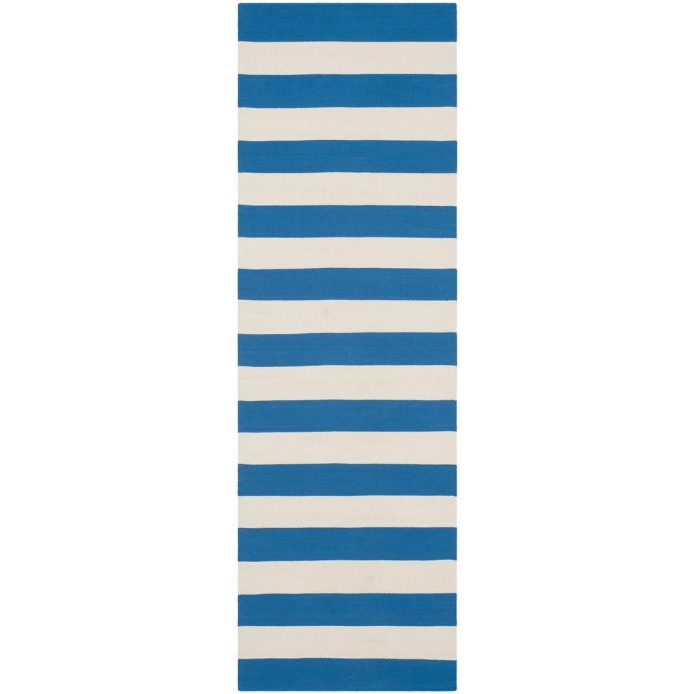 Montauk Blue/Ivory 2 ft. 3 in. x 9 ft. Runner