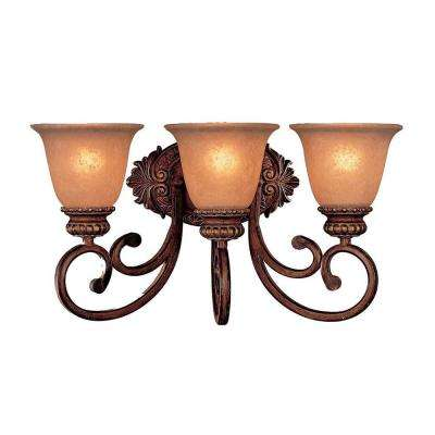 Belcaro 3-Light Walnut Bath Light