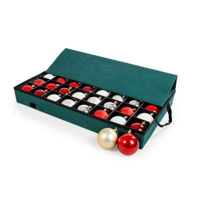 Green Polyester Ornament Saver Tray