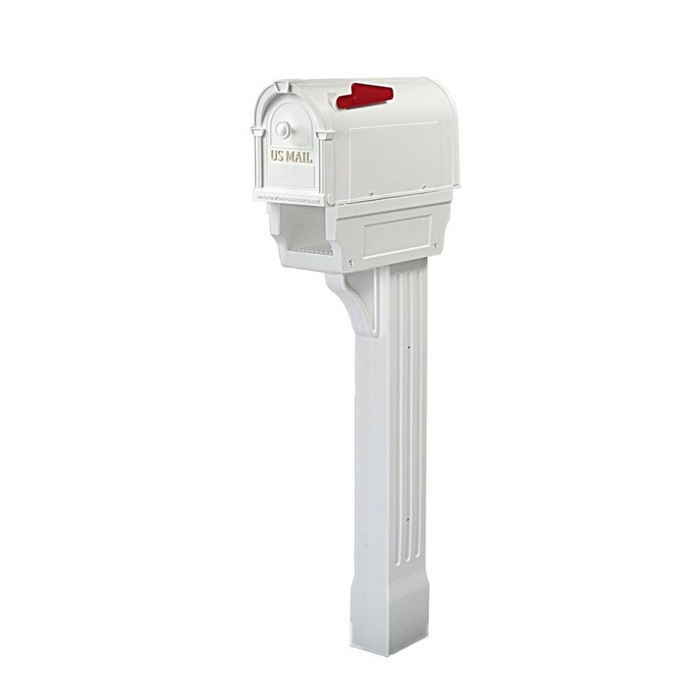 Postal Pro Hampton All-in-One Mailboxes Kit, White