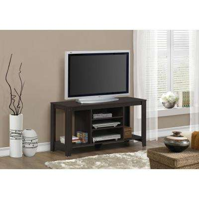 Cappuccino Shelved Entertainment Center