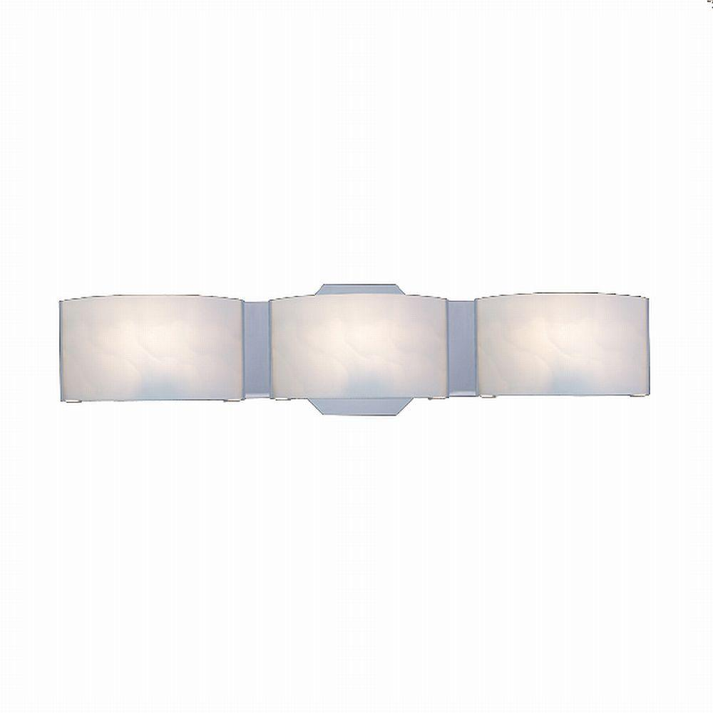 Hampton Bay Dakota 3-Light Satin Nickel Vanity Light with Frosted Glass Shades
