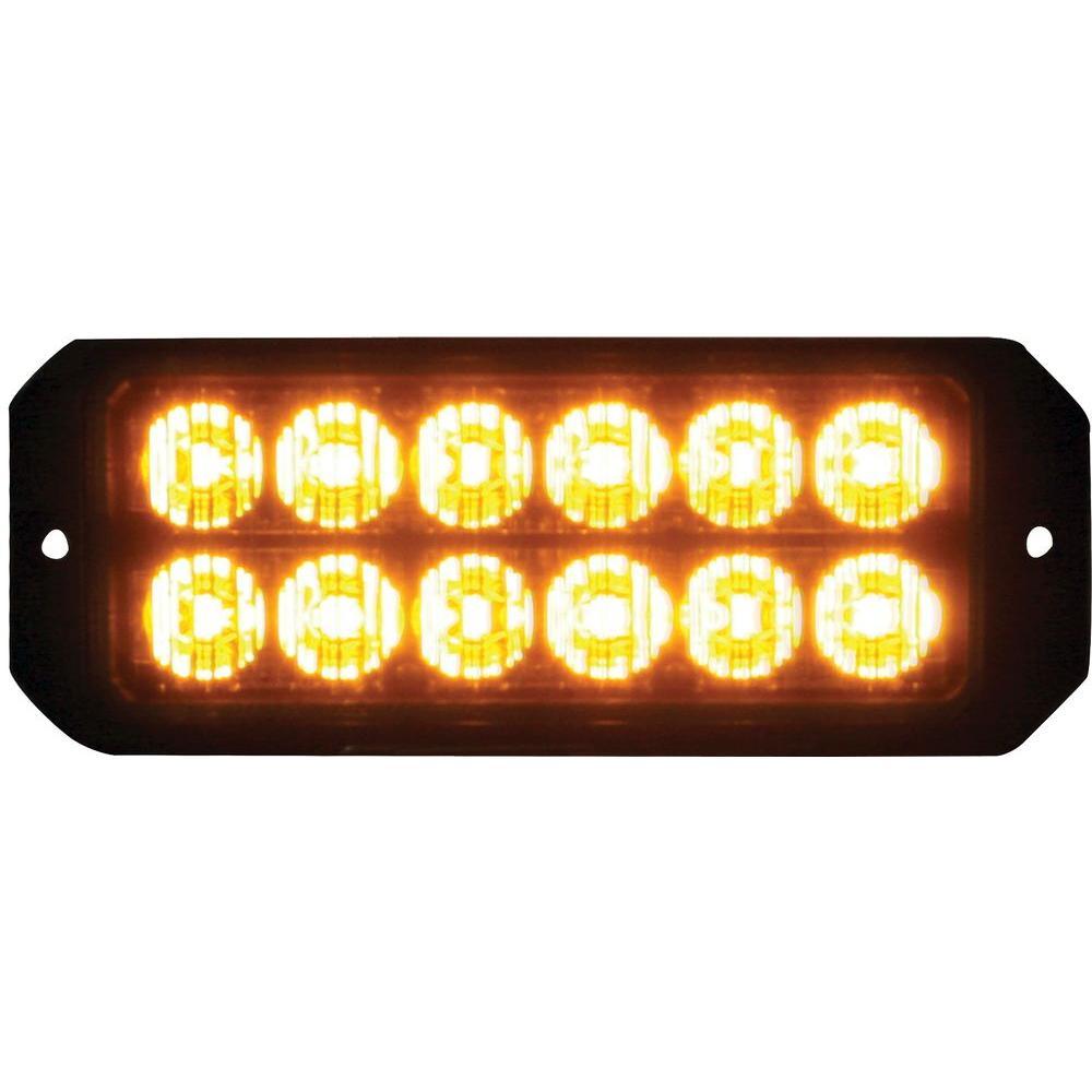 12 Amber LED 5 in. Mini Strobe Light