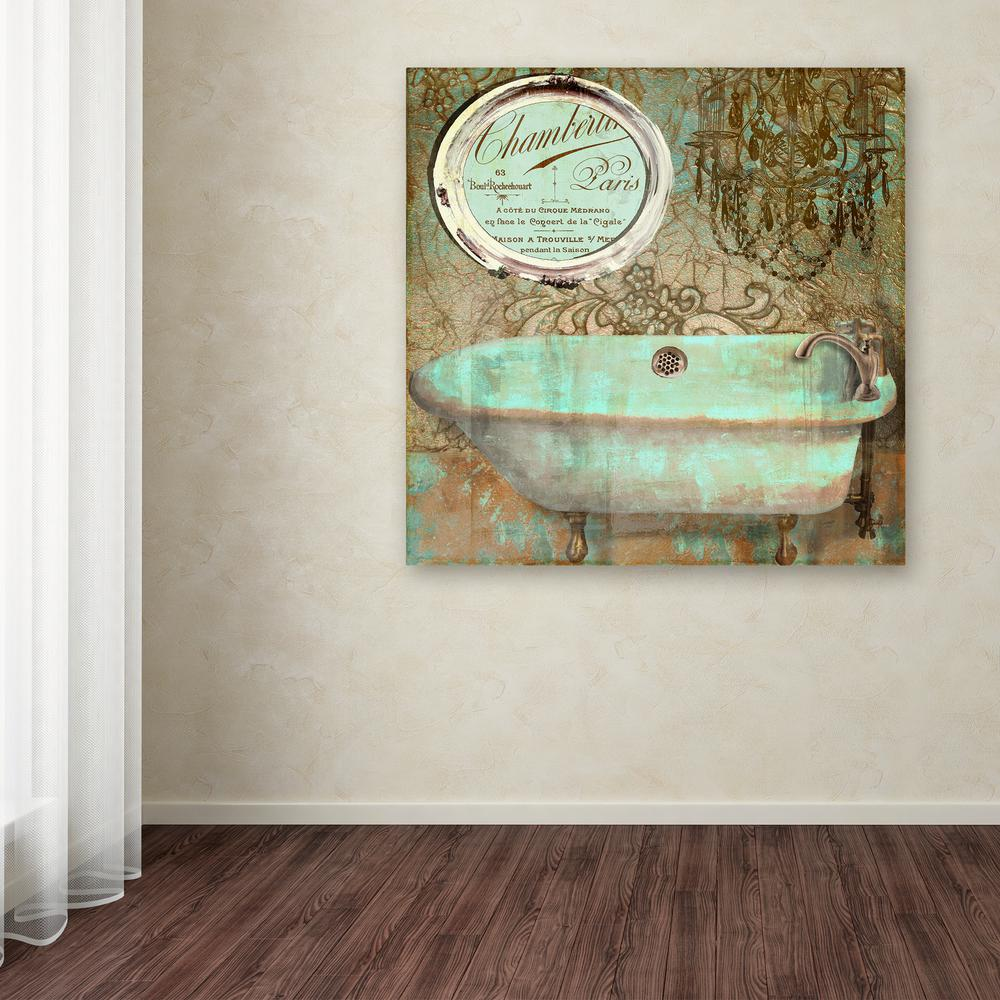 Trademark Fine Art 14 In X 14 In Salle De Bain Iv By Color