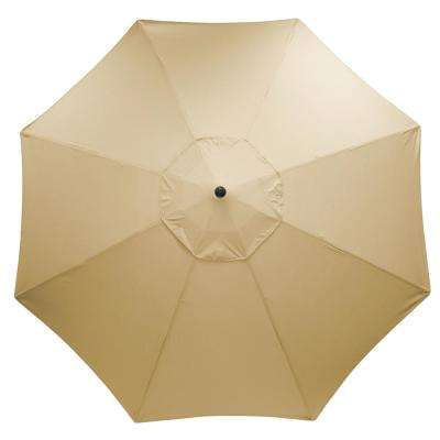 11 ft. Aluminum Market Patio Umbrella in Sunbrella  Antique Beige