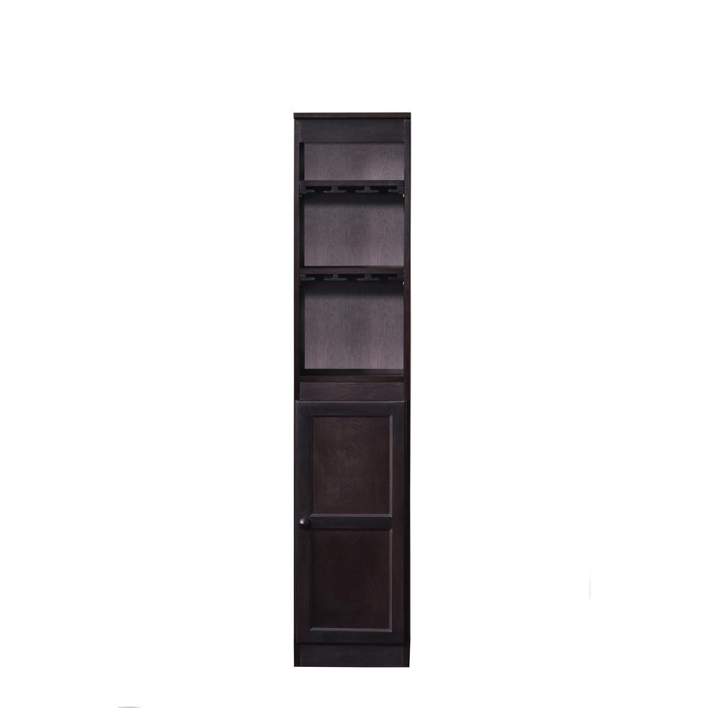 21-Bottle Espresso Bar Cabinet
