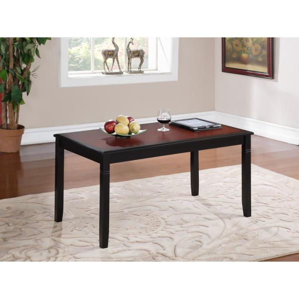Linon Home Decor Camden Black Cherry Coffee Table