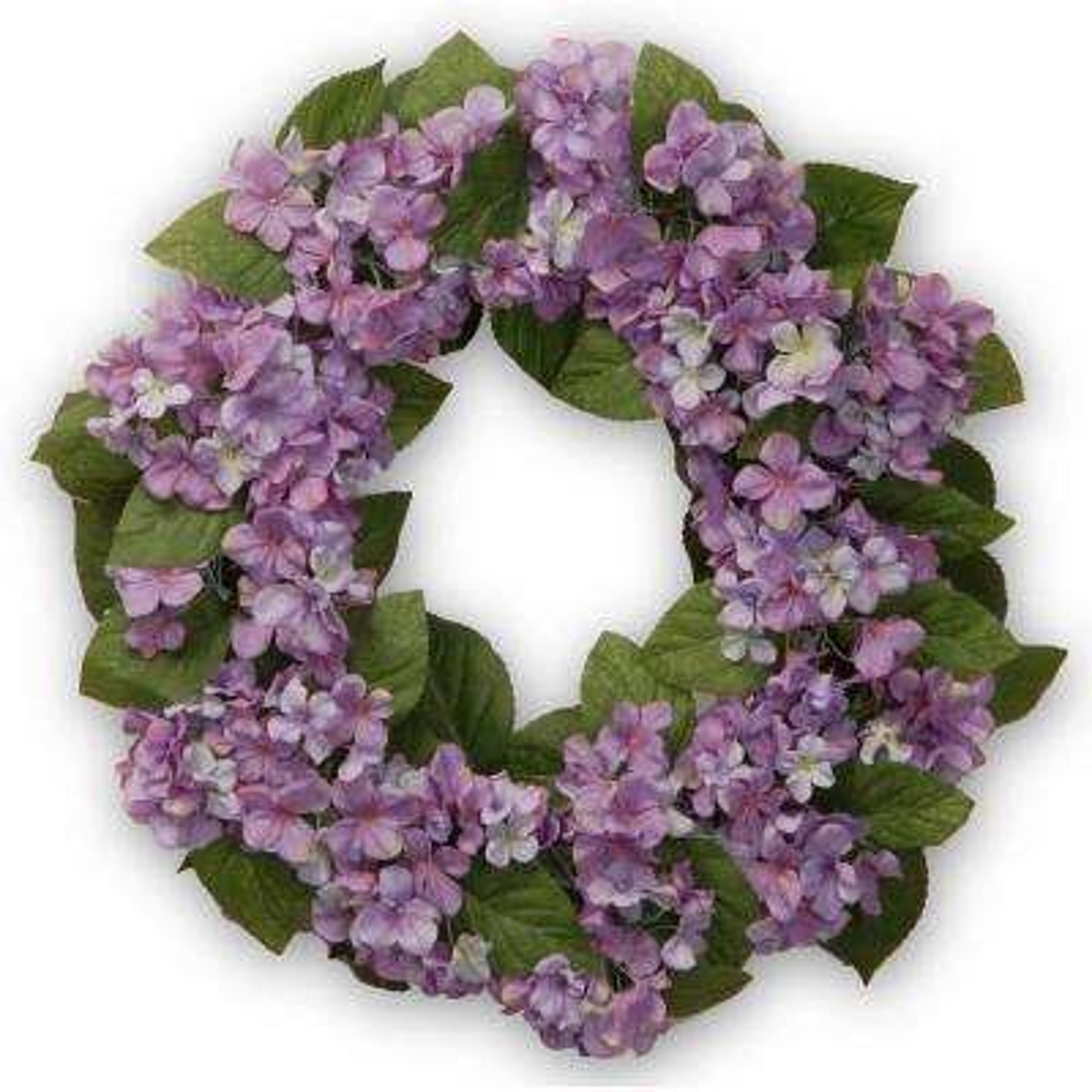 24 in. Purple Hydrangea Wreath
