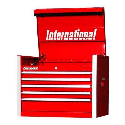 Pro Series 27 in. 5-Drawer Top Chest, Red