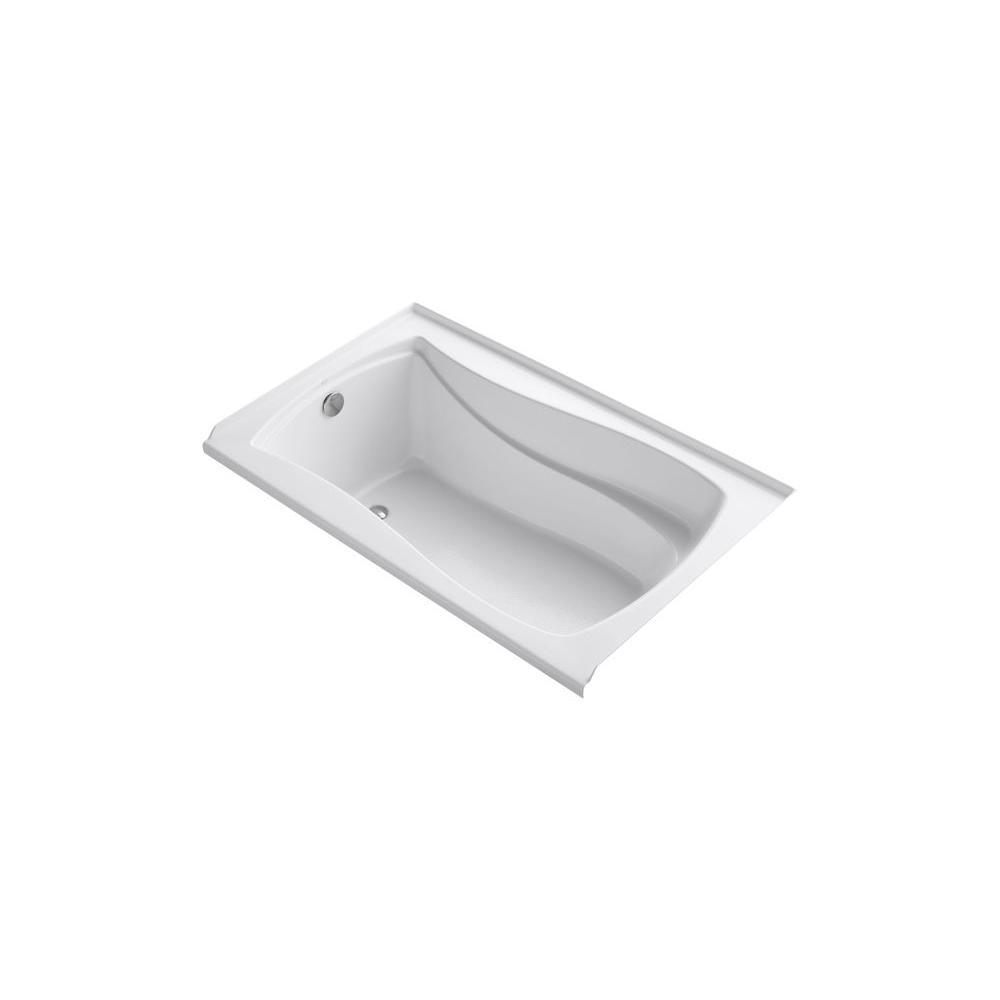 KOHLER Mariposa 5 ft. Left Drain Bathtub in White