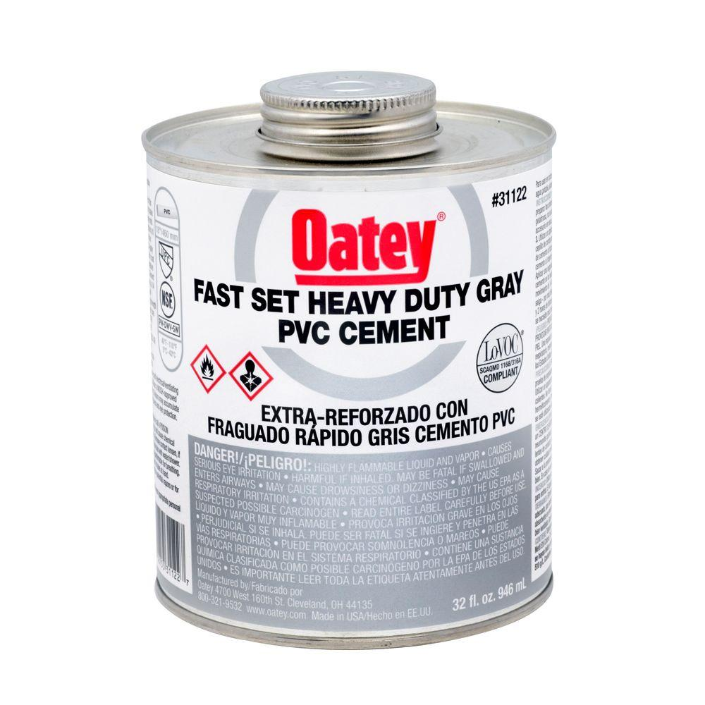 32 oz pvc solvent cement gray 31122 the home depot for Cement cleaning products