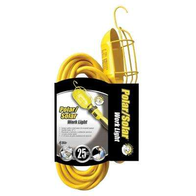Coleman 25 ft. Yellow Cable 3-Gauge Metal Work Light with Guard and Outlet
