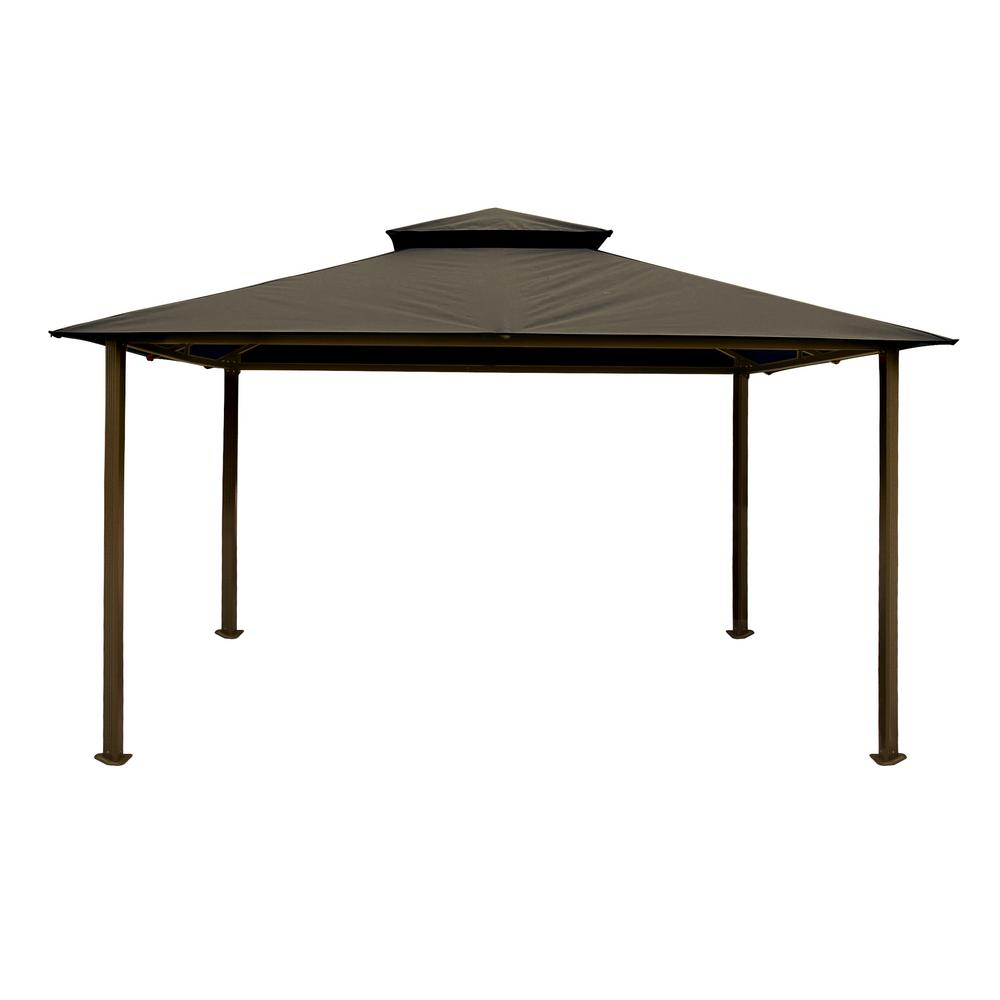 Paragon 11 ft. x 14 ft. Gazebo with Grey Color Roofand