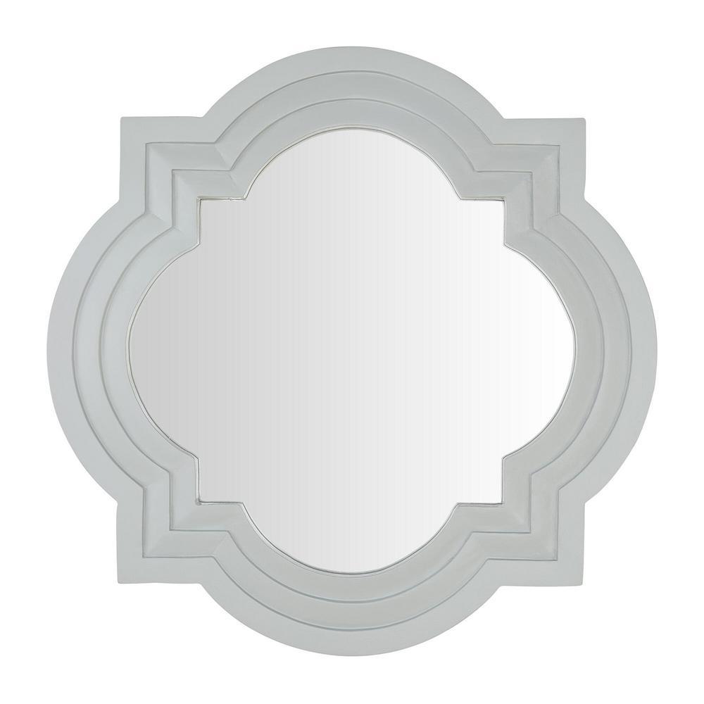 Medium Quatrefoil Moss Multi-Level Classic Accent Mirror (30 in. H x 30 in. W)