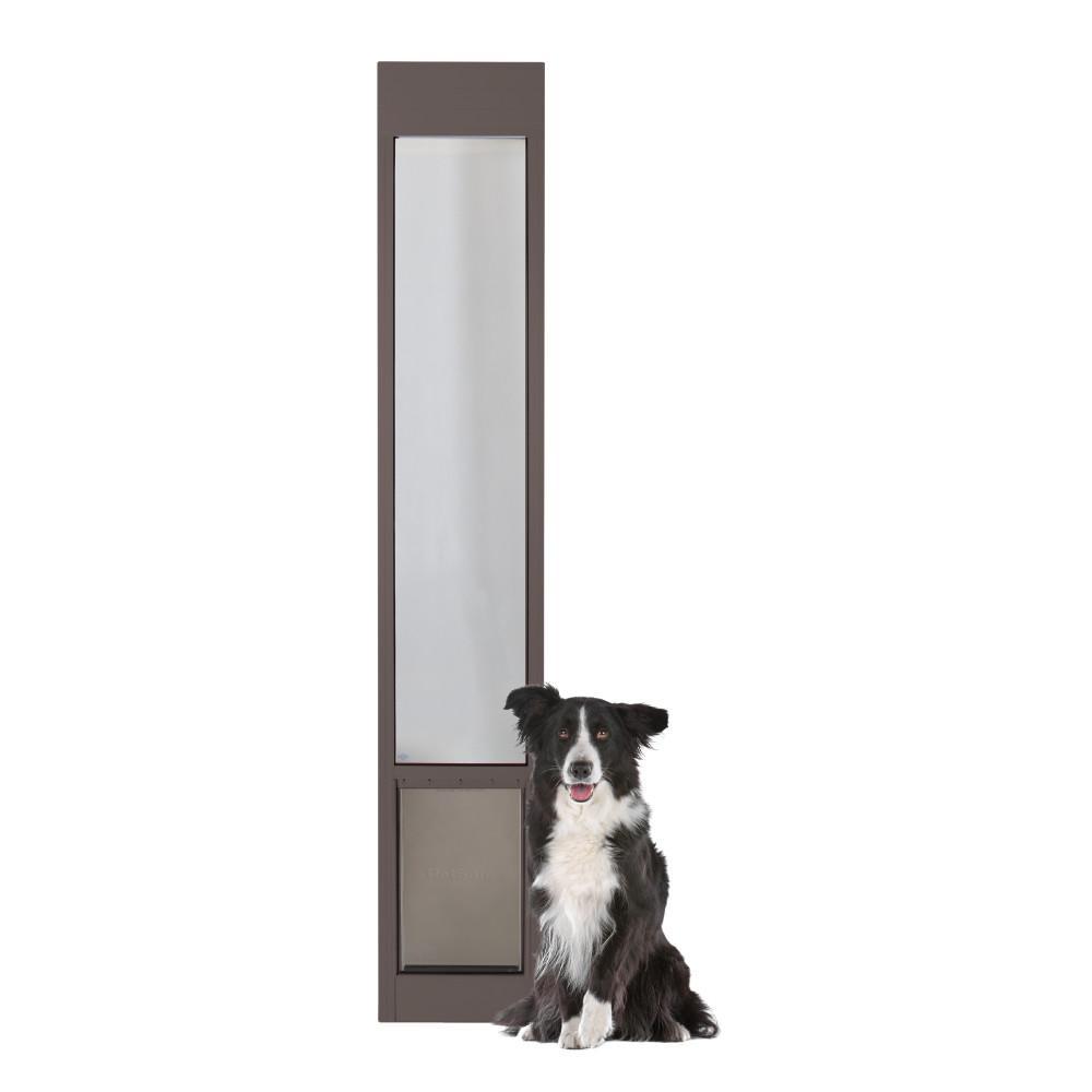 10-1/4 in. x 16-3/8 in. Large Bronze Freedom Patio Panel (76 in. to 81 in.) Pet Door
